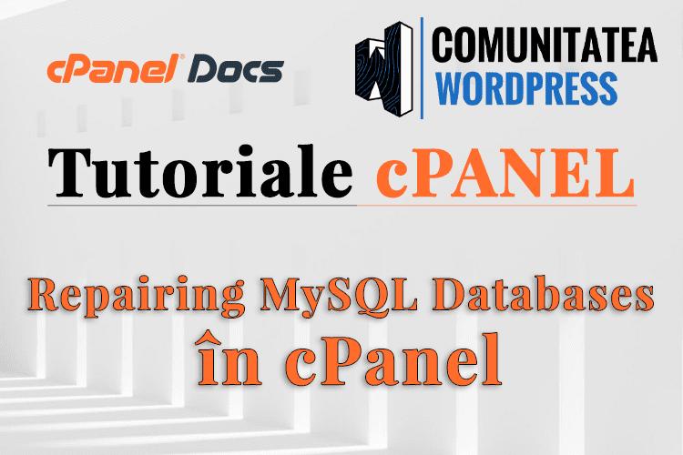 Cum repari o bază de date MySQL folosind phpMyAdmin în cPanel