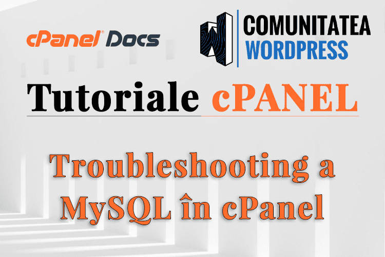 Depanare erori MySQL pentru importul unei baze de date