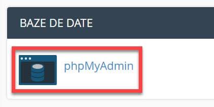 Baze de date-phpMyAdmin