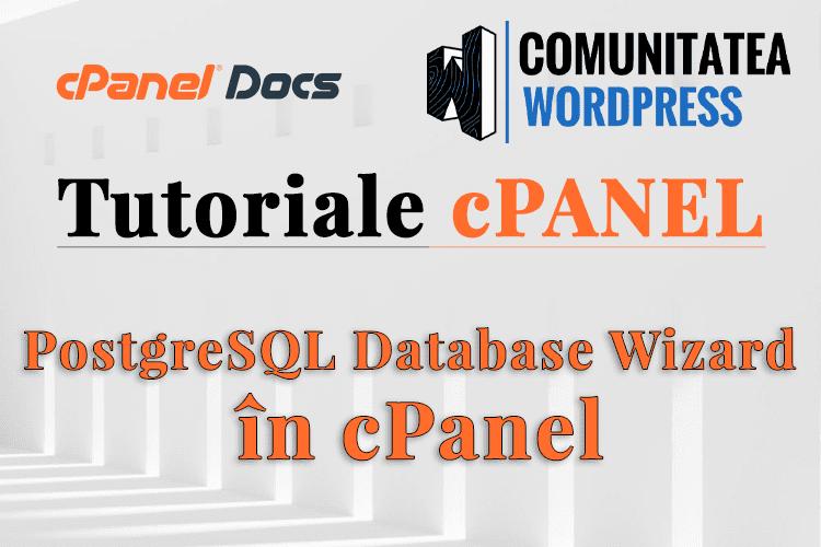 PostgreSQL în cPanel - Cum să gestionați bazele de date și utilizatorii