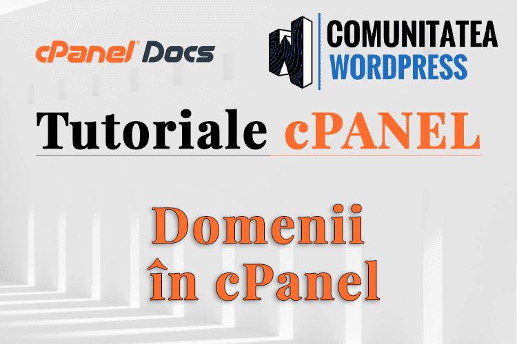 Domenii în cPanel - Cum se folosește acest instrument