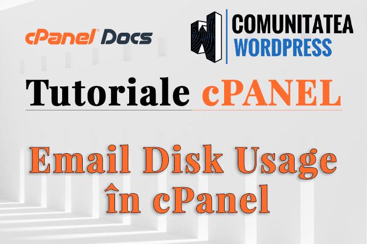 Cum să gestionați utilizarea discului de email în interfața cPanel