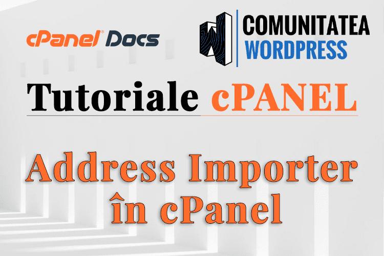 Cum să importați conturi de email în interfața cPanel