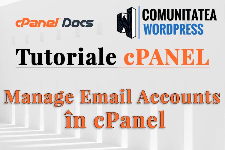 Gestionați conturile de email în interfața din cPanel