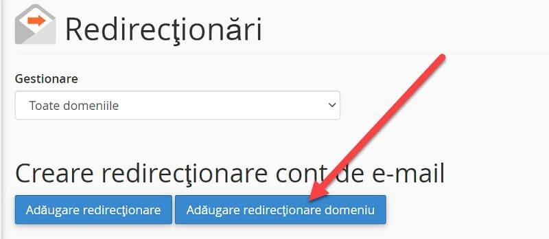 Adăugare Domain Forwarders