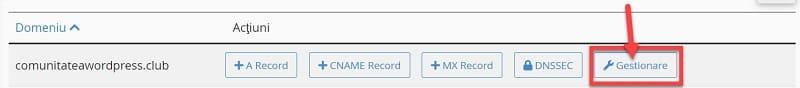 Editare înregistrare MX