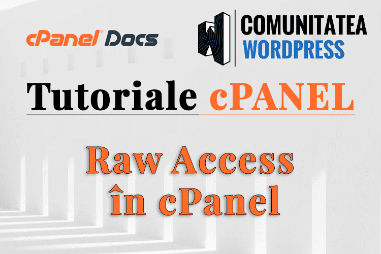 Acces brut - Cum se utilizează în interfața cPanel