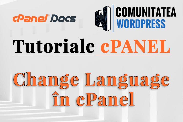 Cum se schimbă limba în cPanel
