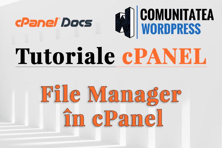 Managerul de Fișiere - Cum se folosește în interfața cPanel