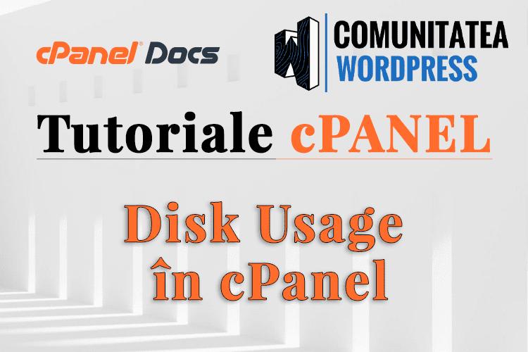 Utilizarea Discului - Cum se vizualizează informațiile în cPanel