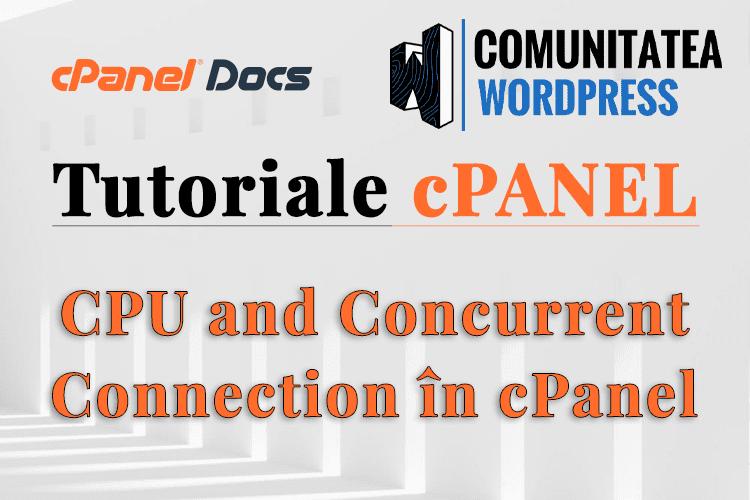 Utilizarea procesorului și a conexiunii simultane în interfața cPanel