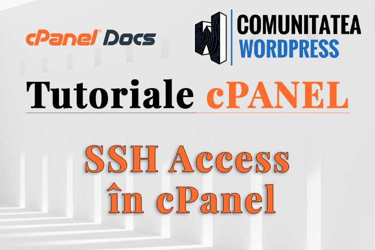 Cheile SSH - Cum se configurează în interfața cPanel