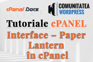 Interfața Paper Lantern în cPanel